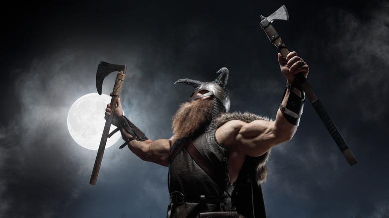 viking holding an ax