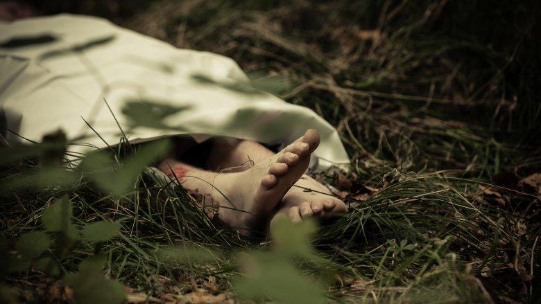 Fictional depiction of murder scene