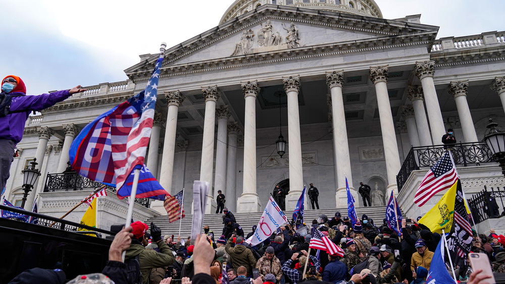 Protesters outside US Capitol building