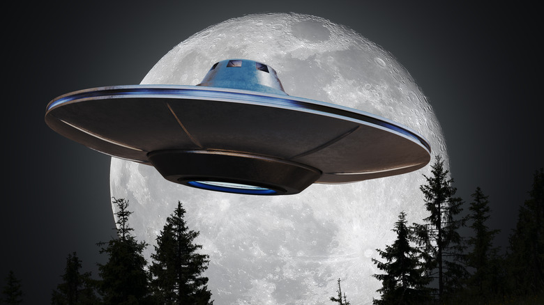 UFO with moon