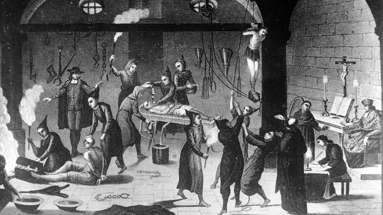 Spanish Inquisition torture illustration