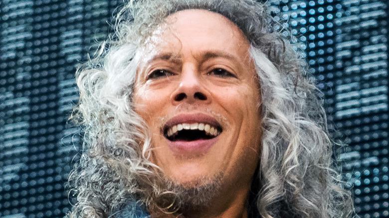 Kirk Hammett smiling