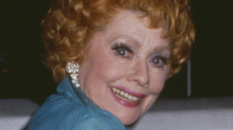 Lucille Ball getting into a limo