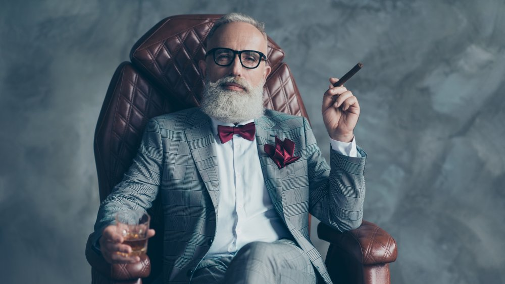 Rich man, millionaire, expensive suit