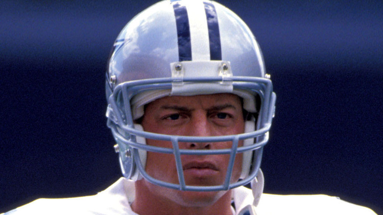 Troy Aikman looking serious