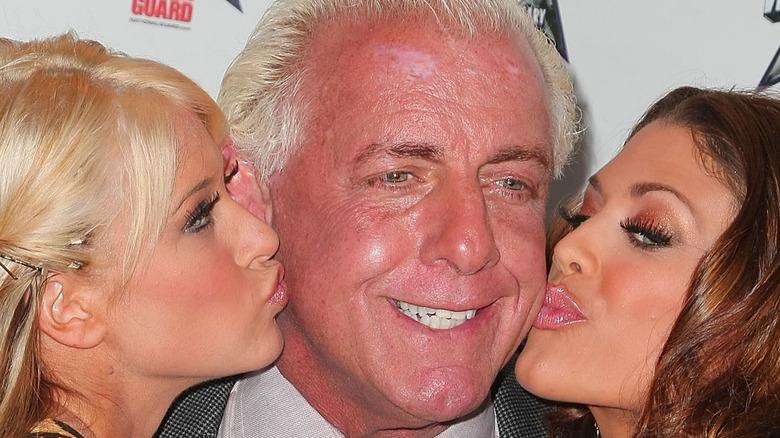 Ric Flair gettin' them smooches