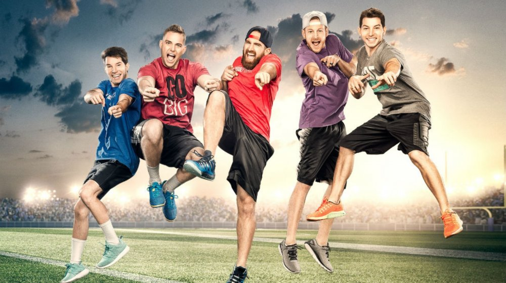 Tyler Toney, Coby Cotton, Cody Jones, Cory Cotton, and Garrett Hilbert of CMT's The Dude Perfect Show