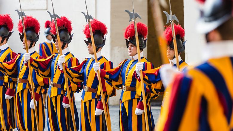 Swiss Guards in uniform
