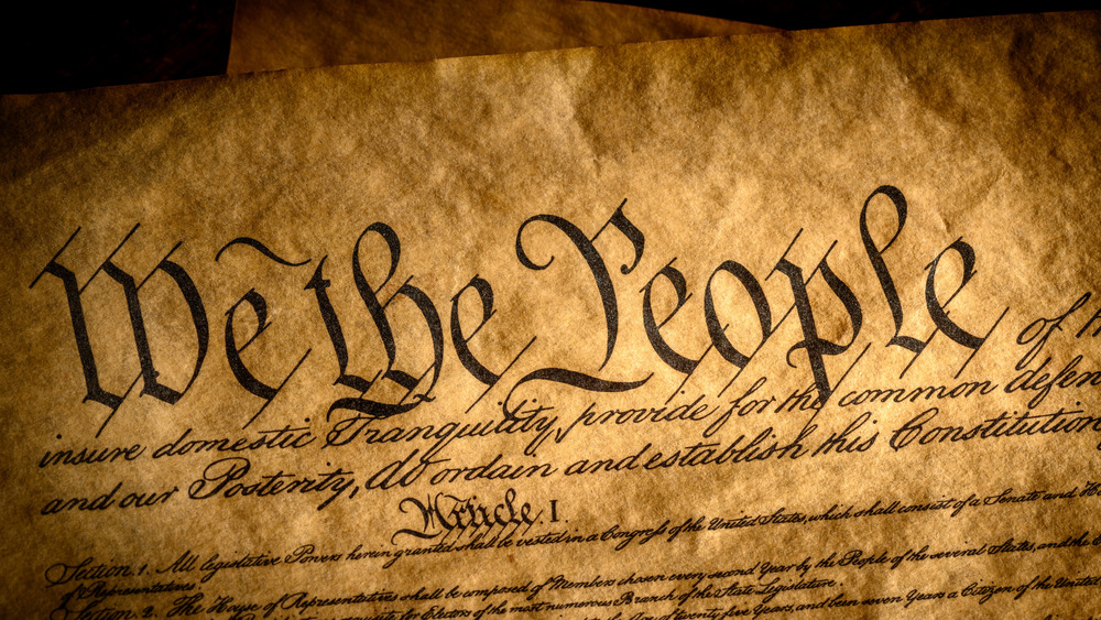 We the People on parchment