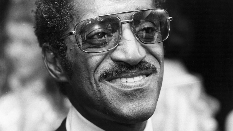 Sammy Davis Jr. smiling