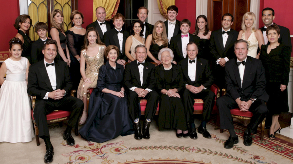 George W. Bush with Bush family, smiling
