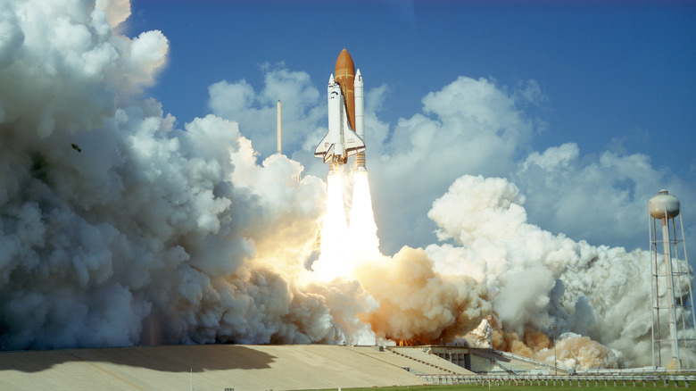 Challenger space shuttle liftoff