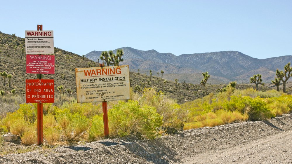 Signs at entrance to Area 51