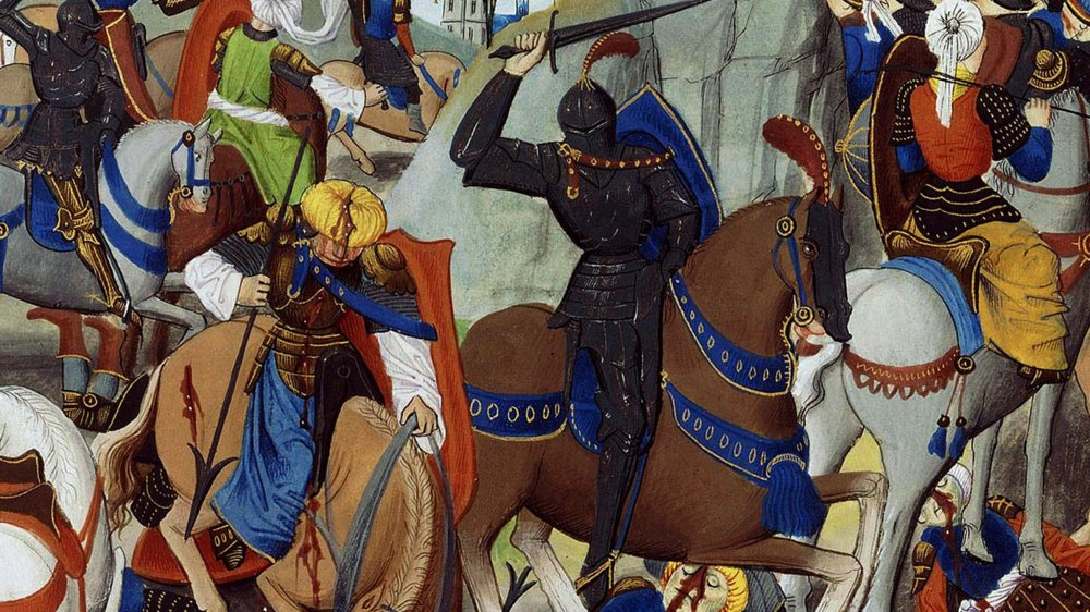 A depiction of the assault on Constantinople