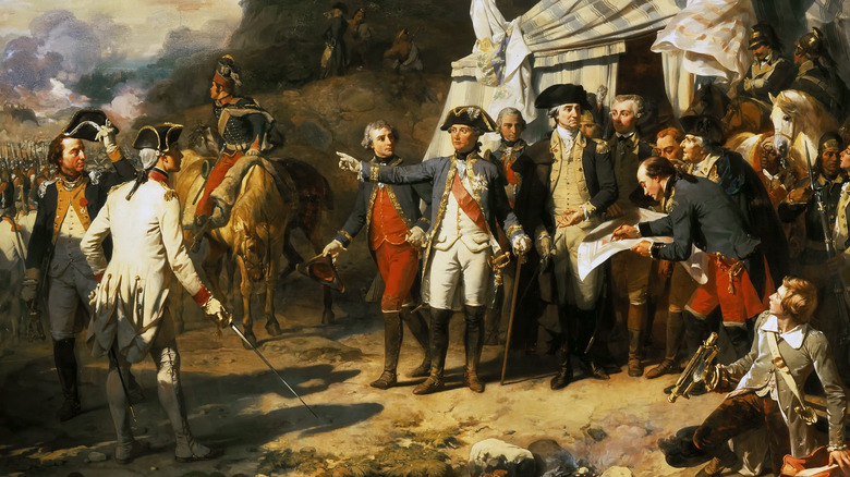 George Washington and Troops