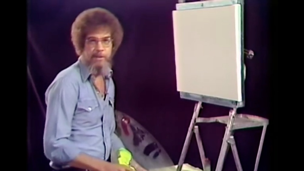 Bob Ross in his first episode of The Joy of Painting