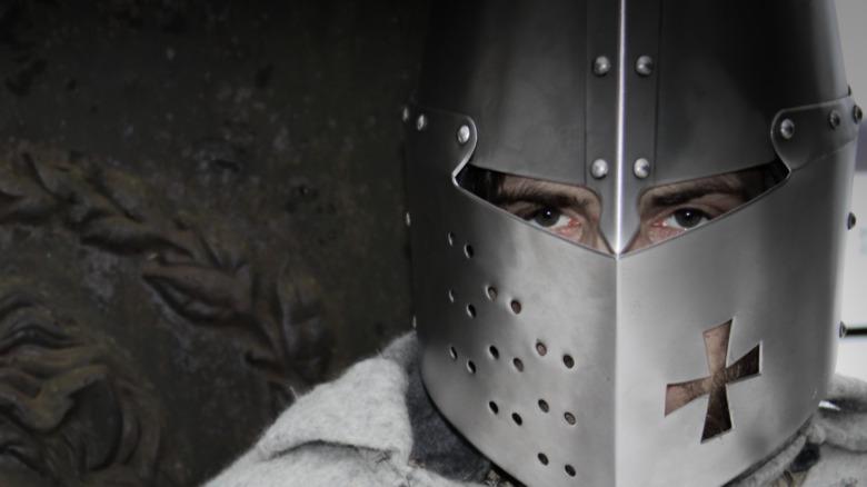 Medieval Templar knight costume reenactment
