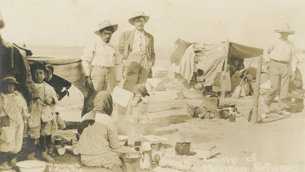 Mexican refugee camp in Texas between 1910 and 1918