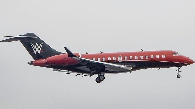 WWE plane in flight