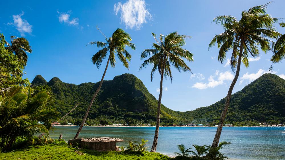 American Samoa beach