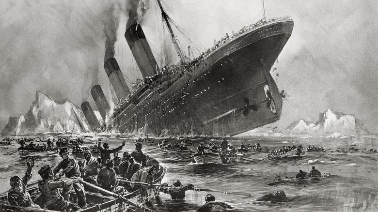 Titanic sinking, Willy Stöwer, 1912