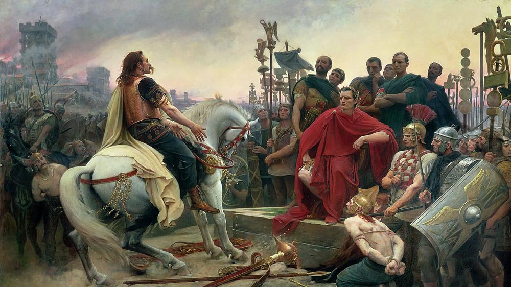 julius caesar and vercingetorix