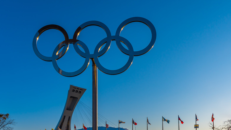 Olympics symbol in Montreal