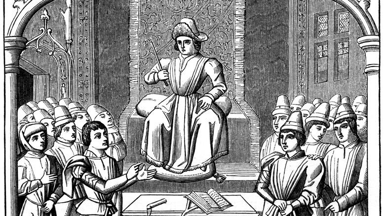 Illustration of a Medieval duel