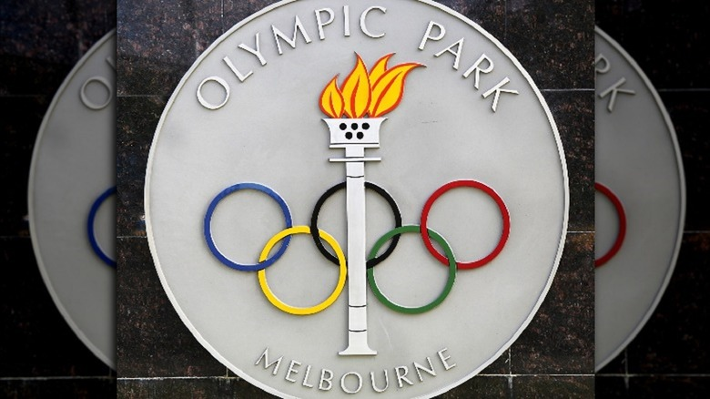Olympic park sign melbourne