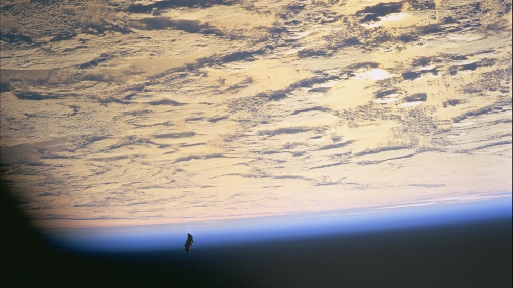 A picture of the Black Knight Satellite from 1998