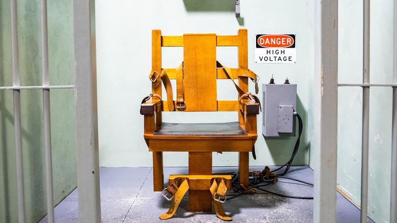 electric chair in prison cell