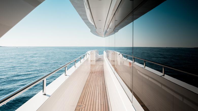 superyacht upper deck corridor
