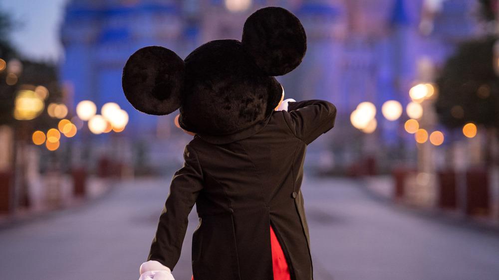 Mickey Mouse waltzes down a lane in Walt Disney World Resort in 2020