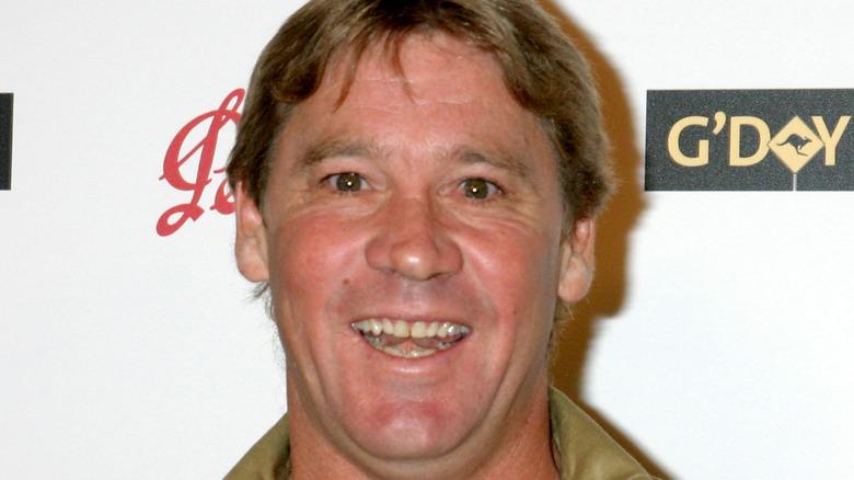 Steve Irwin close up photograph smiling face