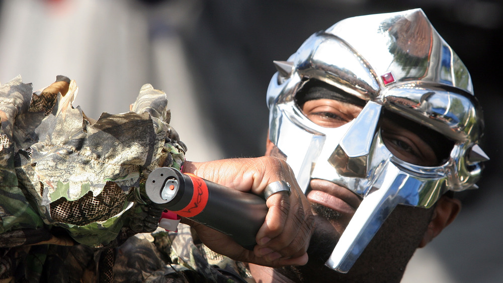 MF Doom mask close-up