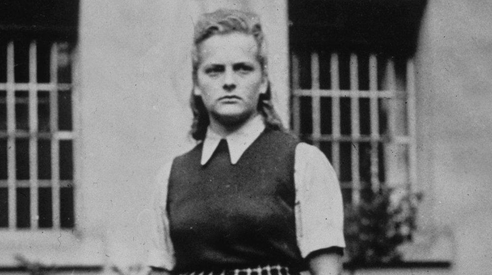 Irma Grese at Auschwitz, somewhere ages 20-22
