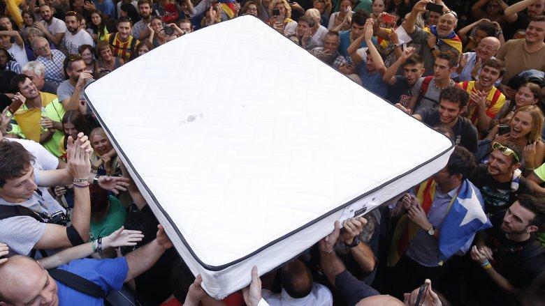 mattress crowd surfing