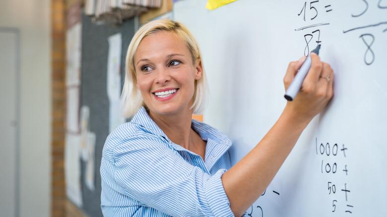 math teacher teaching