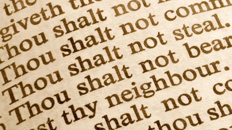 The Ten Commandments (detail)