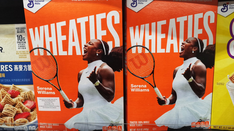Wheaties boxes in grocery store