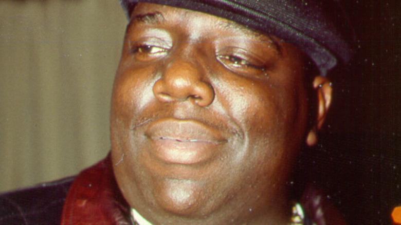 Rapper The Notorious B.I.G. in the 1990s