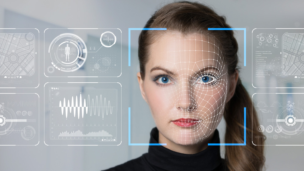 woman's face with digital mumbo jumbo