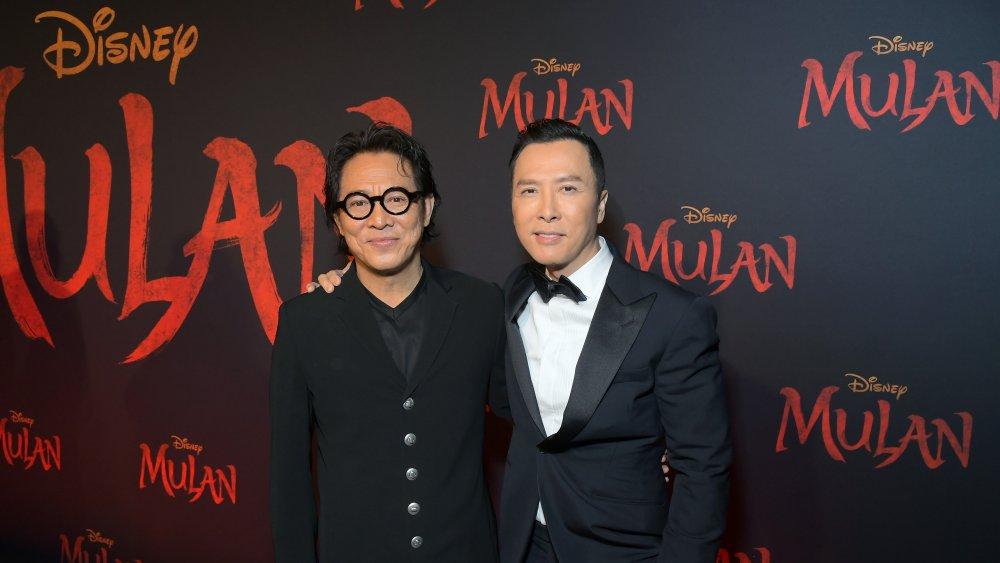 Jet Li and Donnie Yen at Mulan Premiere