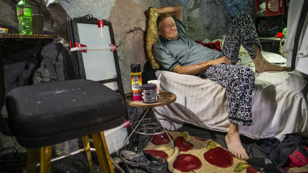 Richard Roman in mine shaft home