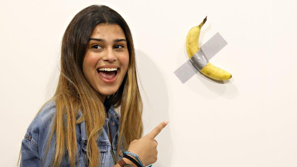 Banana art installation