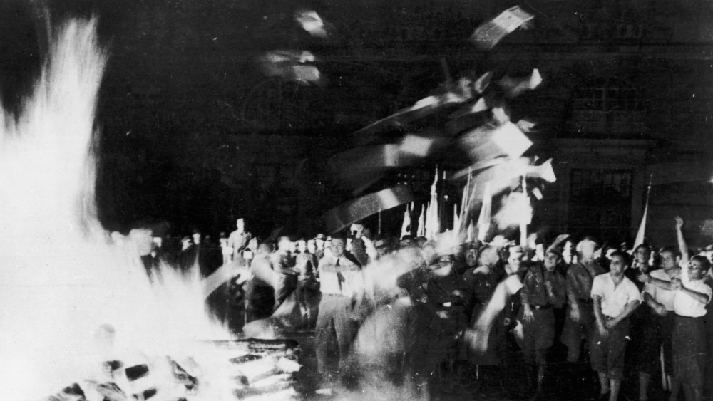 Nazis burning books