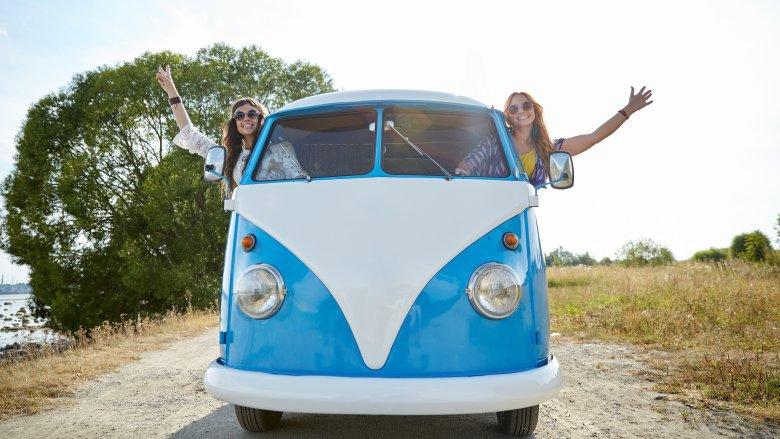 hippies vw van