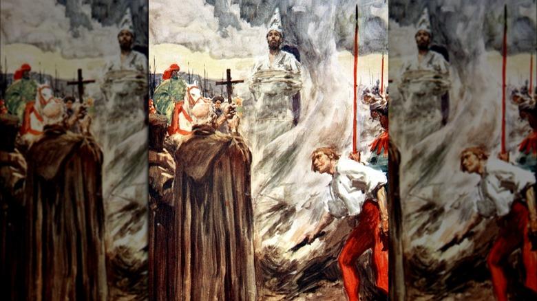 Jan Hus burned at the stake