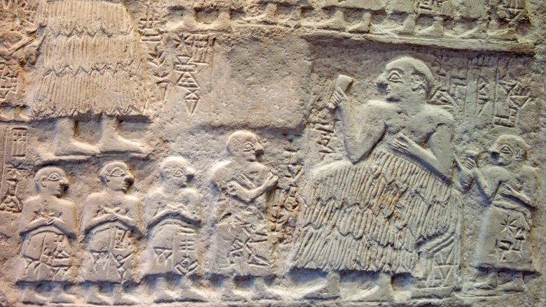 Sumerian carving