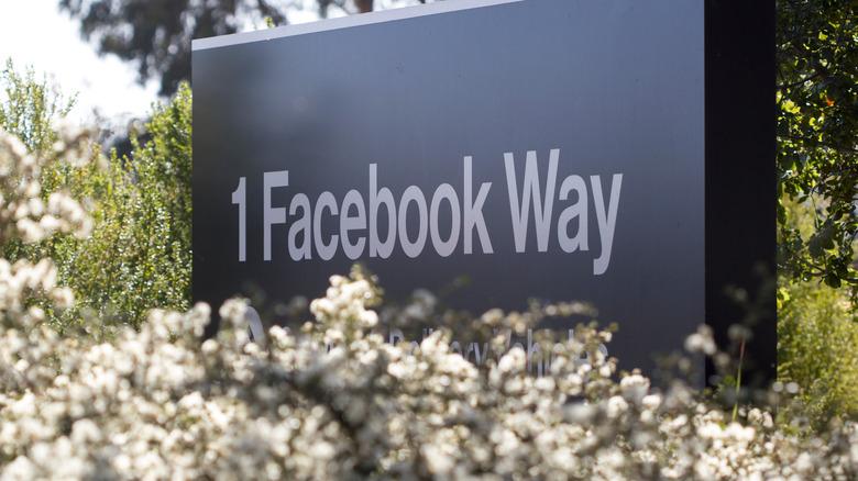 signage at Facebook hq